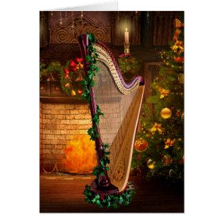 Pedal Harp Christmas Card