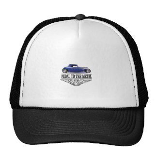pedal to the metal blue trucker hat