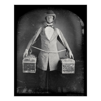 Peddler with Bags Daguerreotype 1848 Poster