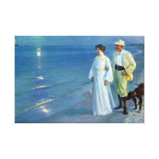 Peder Severin Krøyer Summer Evening Skagen Beach Canvas Print