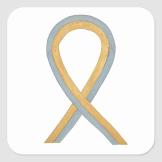 Pediatric Brain Cancer Awareness Ribbon Stickers
