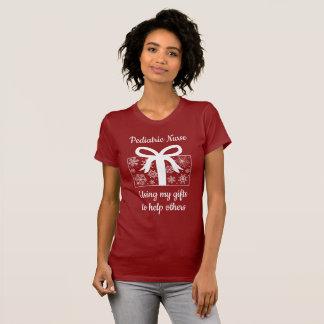 Pediatric Nurse Christmas Winter Holiday T-Shirt
