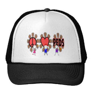 "Pediatric Nurse--""Peace Love Pediatrics"" Cute Trucker Hat"