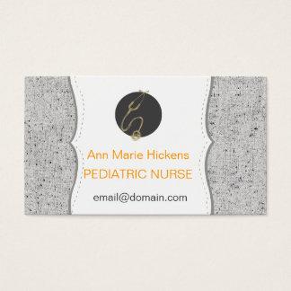 Pediatric Nurse Stitches Business Card
