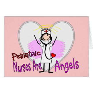 Pediatric Nurses are Angels Greeting Card