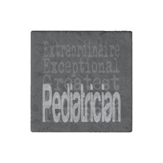 Pediatrician Extraordinaire Stone Magnets