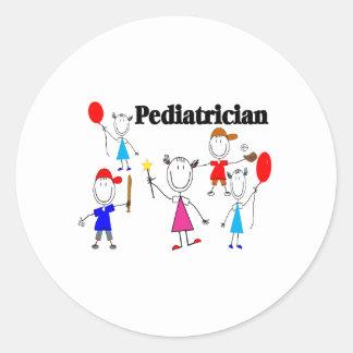 Pediatrician Gifts Kids Stickpeople Designs Round Sticker