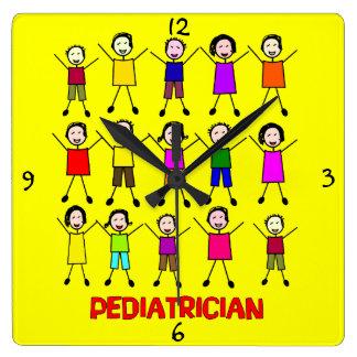 Pediatrician Stick Kids Clock