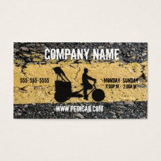 Pedicab Asphalt Business Card