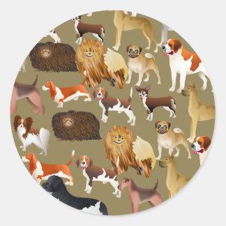 Pedigree Dog Wallpaper Classic Round Sticker