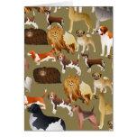Pedigree Dog Wallpaper Greeting Card