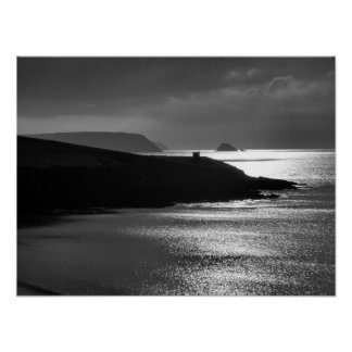 Pednvadan Point & Gull Rock Cornwall Poster