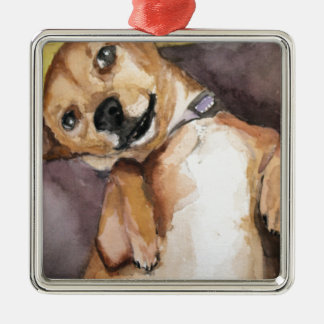 Pedro the Chiweenie Metal Ornament