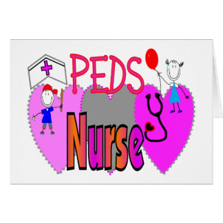 PEDS NURSE Adorable gifts Greeting Card