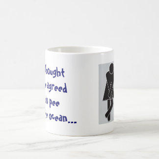Pee in the ocean Mug