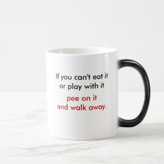 pee on it and walk away mug