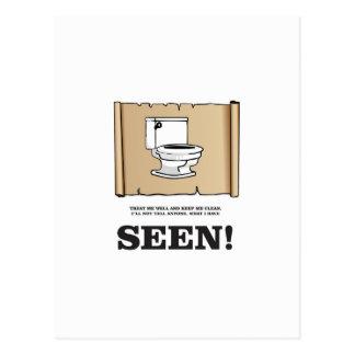 pee scroll funny postcard