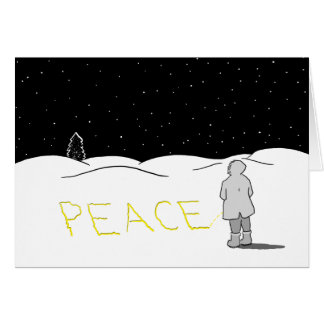 Pee the change you want to see: Peace Card