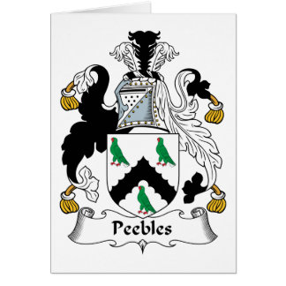 Peebles Family Crest Card