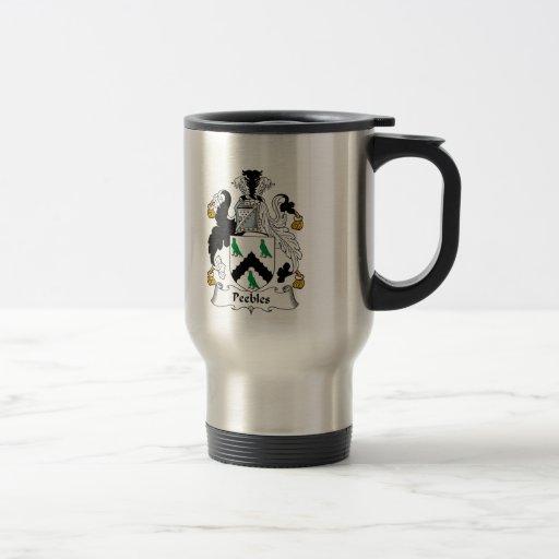 Peebles Family Crest Mugs