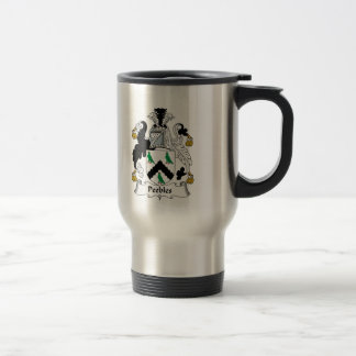 Peebles Family Crest Travel Mug