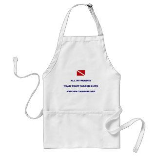 Peeing Cooking Scuba Diver Standard Apron