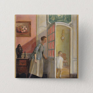 Peek-a-Boo 2 Inch Square Button