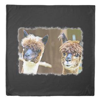 Peek a Boo Alpacas  Duvet Cover