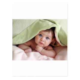 Peek-A-Boo Baby Postcard