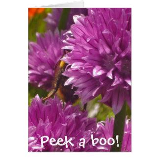 """Peek a boo!"" bumblebee card"