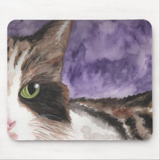 Peek a boo Calico Kitty Cat Mouse Pad
