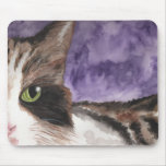 Peek a boo Calico Kitty Cat Mousepads