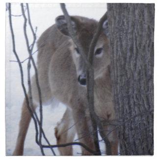 peek-a-boo deer. printed napkins
