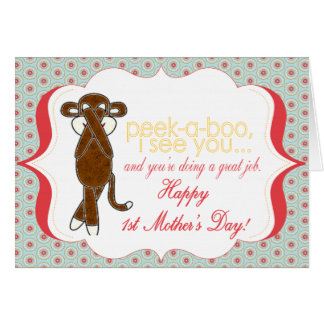 PeeK-A-Boo First Mother's Day Card