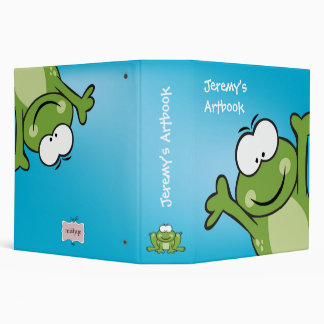 Peek a Boo Froggy Kids Binder