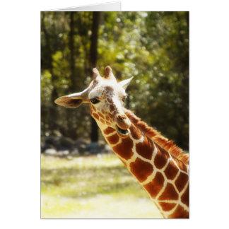 Peek-a-Boo Giraffe Card