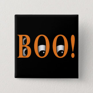 Peek a BOO! Halloween Eyes 2 Inch Square Button