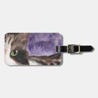 Peek a Boo Kitty Luggage Tag