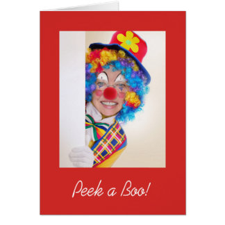 Peek a Boo Note Card