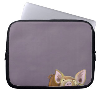 Peek-a-boo Pig Laptop Sleeve