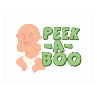 Peek-A-Boo Postcard