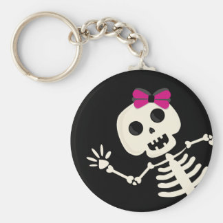 peek a boo skeleton keychain