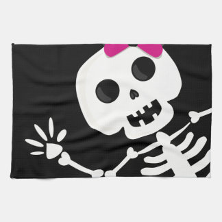 peek a boo skeleton kitchen towel