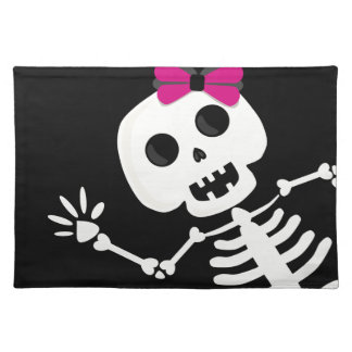 peek a boo skeleton placemat