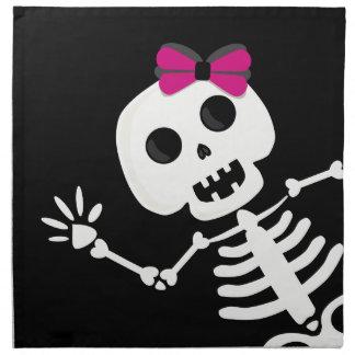 peek a boo skeleton printed napkins