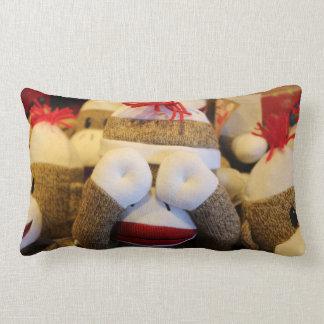 Peek-a-boo Sock Monkey Lumbar Pillow