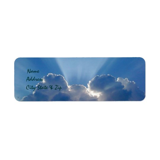 Peek-a-boo Sun and Clouds Address Labels