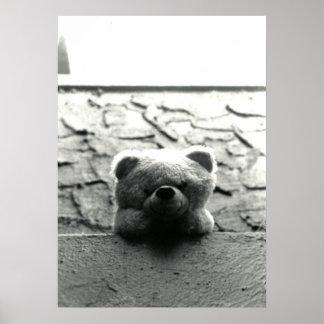 Peek-a-Boo Teddy Poster