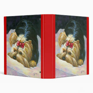 Peek a Boo Yorkie Photo Album Binder Notebook
