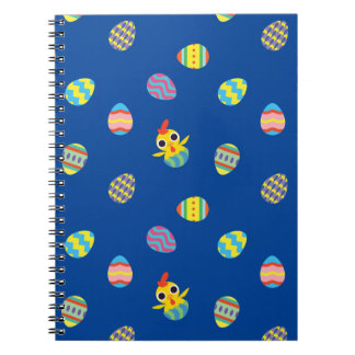 Peekaboo Barn Easter | Easter Egg Pattern Spiral Notebook